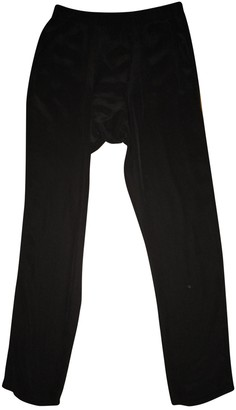 Superfine Black Silk Trousers for Women