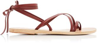 Ancient Greek Sandals Morfi Ankle-Wrap Leather Sandals