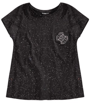 GUESS Big Girls Speckled-Print Cotton T-Shirt