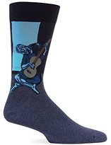 Hot Sox Men's Old Guitarist Crew Sock
