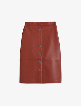 Ted Baker Deetra high-waisted leather pencil skirt