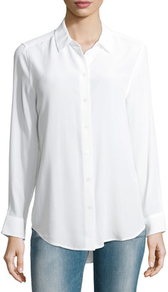 Equipment Essential Long-Sleeve Silk Shirt