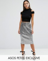 Asos Metallic Pleat Skirt