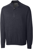 Cutter & Buck Black Broadview Half-Zip Sweater