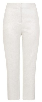 Dorothy Perkins Womens Girls On Film Silver Trousers, Silver