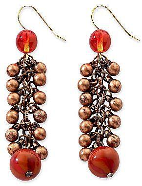Coppertone Aris by Treska Copper-Tone Drop Earrings