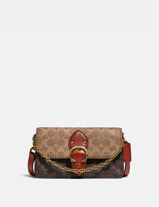 Coach Beat Crossbody Clutch In Signature Canvas With Horse And Carriage Print