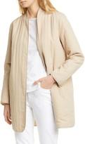 Eileen Fisher Quilted Linen Blend Long Jacket