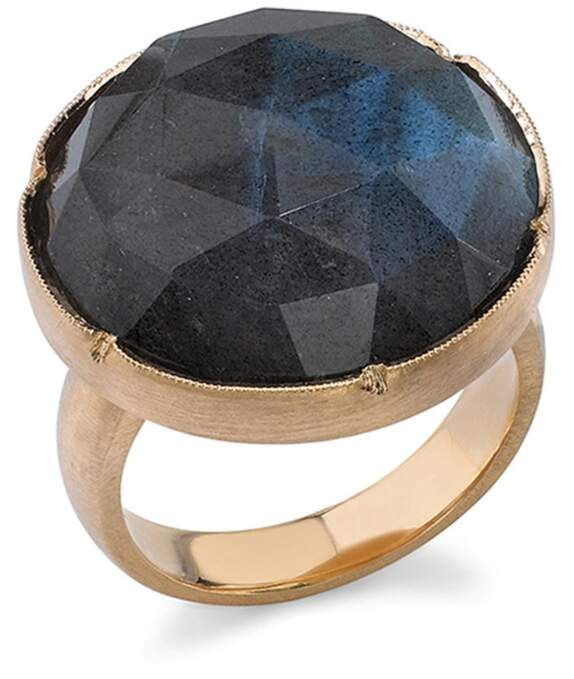 Irene Neuwirth Rose Cut Labradorite Ring - Rose Gold
