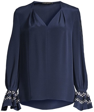 Kobi Halperin Ghada Embroidered Silk Blouse