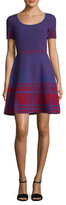 Diane von Furstenberg Intarsia Knit Fit And Flare Dress