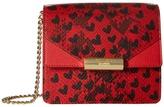 Moschino Python and Hearts Print Shoulder Bag Shoulder Handbags