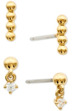 AVA NADRI 2-Pc. Set Cubic Zirconia & Bead Earrings