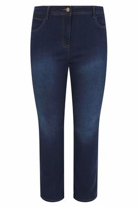 Yours Clothing Women's Indigo Straight Leg Ruby Jeans Size 16 Indigo Blue