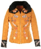 Rene Derhy Padded Jacket with Floral Embroidery