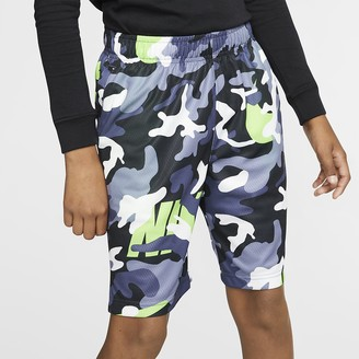 Nike Boys' Camo Training Shorts Dri-FIT