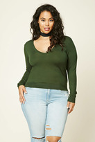 Forever 21 FOREVER 21+ Plus Size V-Neck Sweater