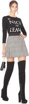 Alice + Olivia Cindie Cross Over Mini Skirt