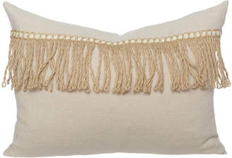Lulu & Georgia Lany Linen Lumbar Pillow, Creme Brulee