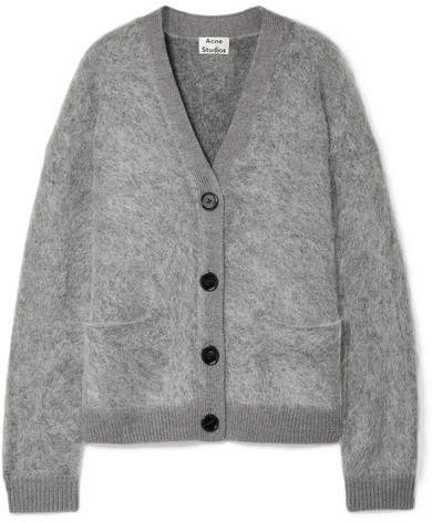 Acne Studios Rives Knitted Cardigan - Light gray
