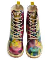 GOBY Women's Shoes ''Rainbow Geometric Combat Boot'''' TIM1025