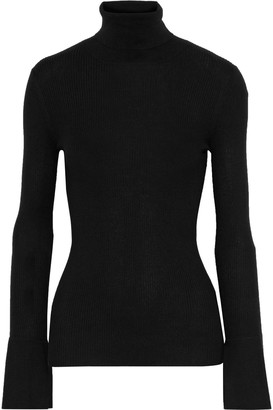 Proenza Schouler Ribbed Silk And Cashmere-blend Turtleneck Sweater