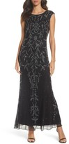 Pisarro Nights Women's Floral Motif Embellished Gown