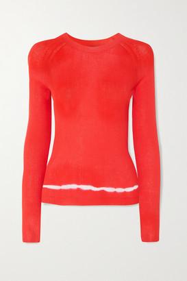 Altuzarra Kazuko Ribbed Tie-dyed Pima Cotton-jersey Sweater - Bright orange