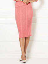 New York & Co. Eva Mendes Collection - Cable-Knit Sweater Skirt