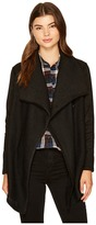 BB Dakota Lauritz Solid Slub French Terry Jacket with Faux Suede Sleeves Women's Coat