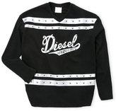 Diesel Girls 7-16) Metallic Graphic Varsity Tee