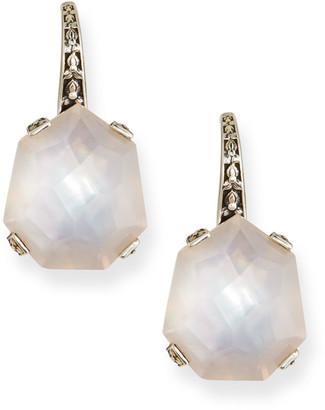 Stephen Dweck Freeform Rose Quartz/Mother-of-Pearl Earrings
