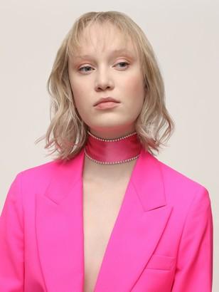 Les Inconnus Britt Embellished Silk Satin Scarf