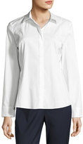 Lafayette 148 New York Cera Button-Front Top, White
