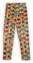 Urban Smalls Yellow & Blue Owl Leggings - Infant Toddler & Girls