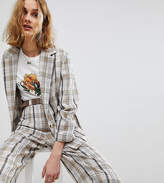 Reclaimed Vintage Inspired Check Relaxed Blazer