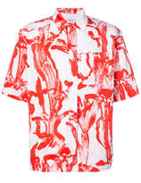 Givenchy Short Sleeve Printed Shirt - White - Size CL43