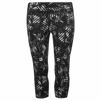 USA Pro Womens Three Quarter Leggings Capris Pants Trousers Bottoms Zip Floral Mono Scawl 16 (XL)