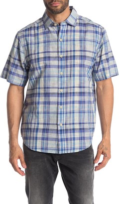 Tommy Bahama Short Sleeve Plaid Oasis Button Down Shirt