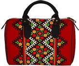 Pivonia Handbag Barrel Floral Pattern Ukrainian Ornament Women's Bag Embroidery Style