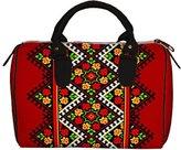 Pivonia Handbag Barrel Floral Pattern Ukrainian Ornament Women's Bag Embroidery Style