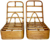 One Kings Lane Vintage Paul Frankl Rattan Slipper Chairs