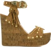 Ash 'Bliss' studded wedge sandals