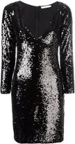 Amen sequin V-neck dress - women - Viscose/PVC - 44