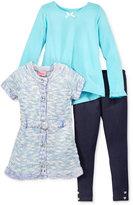 Nannette 3-Pc. Shirt, Tunic & Leggings Set, Toddler Girls (2T-4T) & Little Girls (2-6X)
