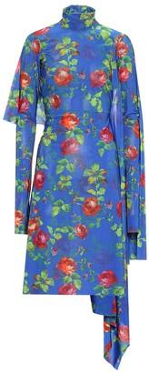 Vetements Floral stretch-jersey dress