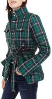 J.Crew J. CREW Plaid Belted Puffer Jacket