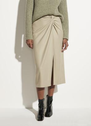 Vince Flannel Twist Front Skirt