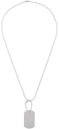 Martine Ali Silver Tag Chain Necklace