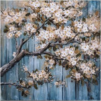 """Iicart Inc. """"Cherry Blossom III"""" Hand Painted Canvas Artwork; Fine Art; Modern; Fl"""